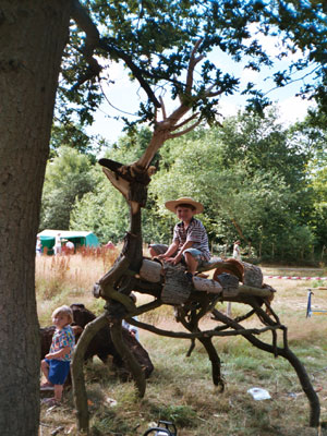 Branch Stag Sculpture, Celtic Harmony Camp, Herfordshire '04